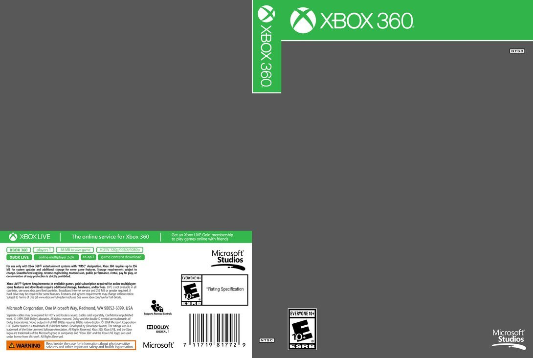 Xbox 360 Cover Template Xbox 360 Cover Template by Etschannel On Deviantart