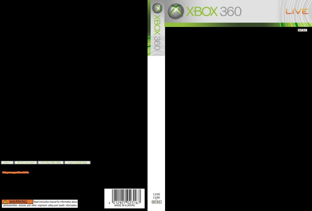 Xbox 360 Cover Template Xbox 360 Cover Template by Georgiajedward On Deviantart