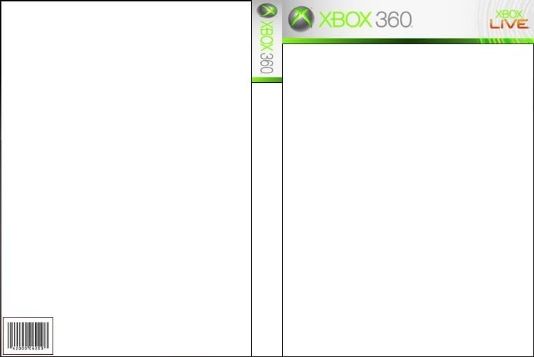 Xbox 360 Cover Template Xbox 360 Front and Back Cover by Wolfdragongod On Deviantart