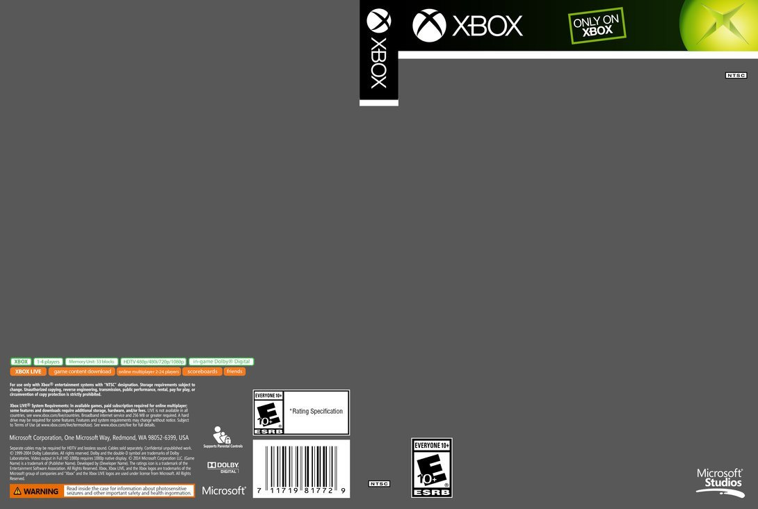 Xbox 360 Cover Template Xbox Cover Template by Etschannel On Deviantart