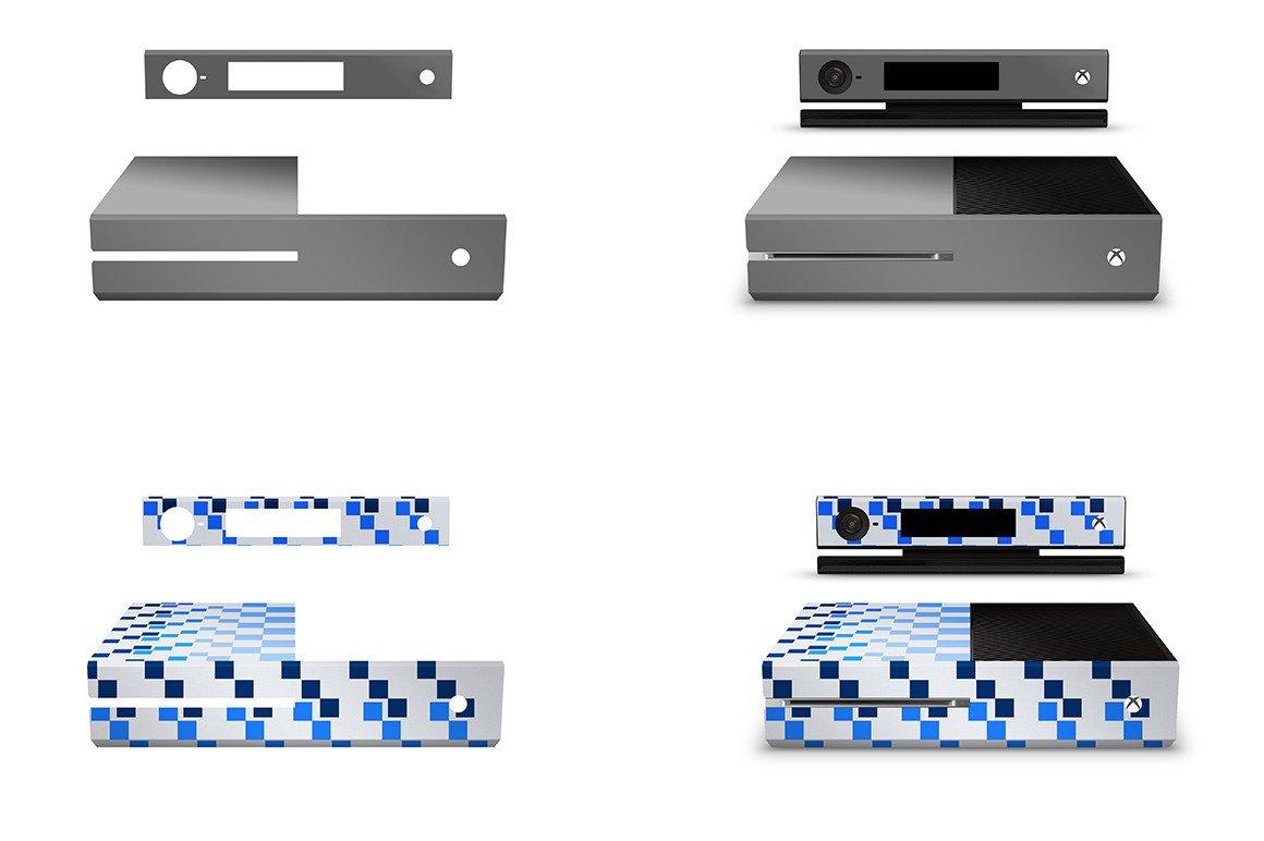 Xbox One Console Skin Template Xbox E Console Skin Design Mockup Template