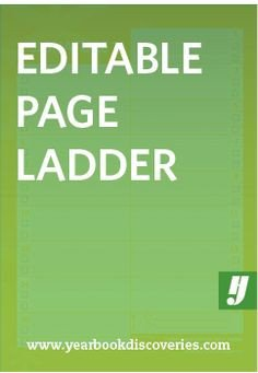 Yearbook Ladder Template Yearbook Ladder Editable Template 16 Page Signatures