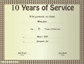 Years Of Service Certificate Template Business Certificates Free Printable Certificates