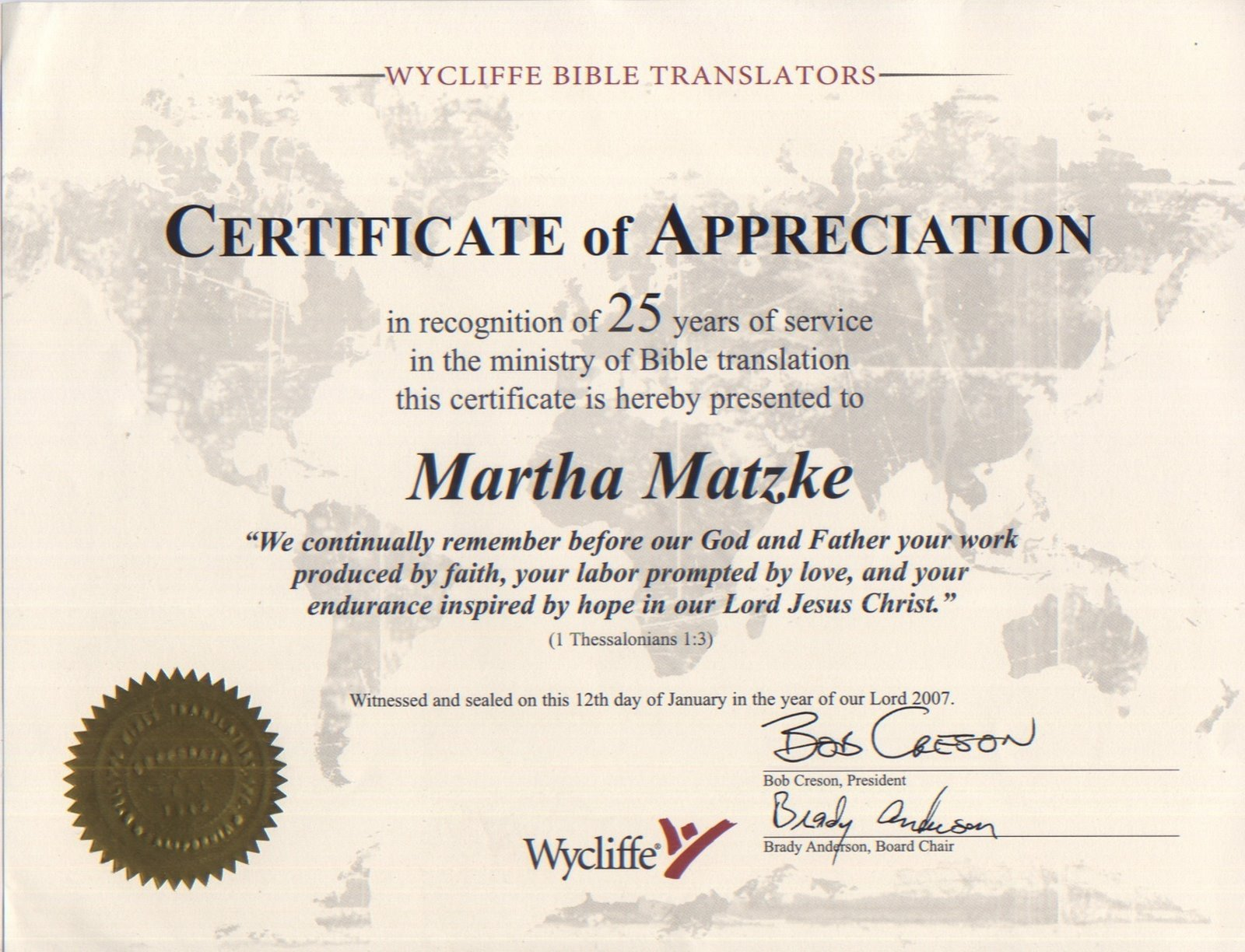 Years Of Service Certificate Template Matzkemission Matzke Musings