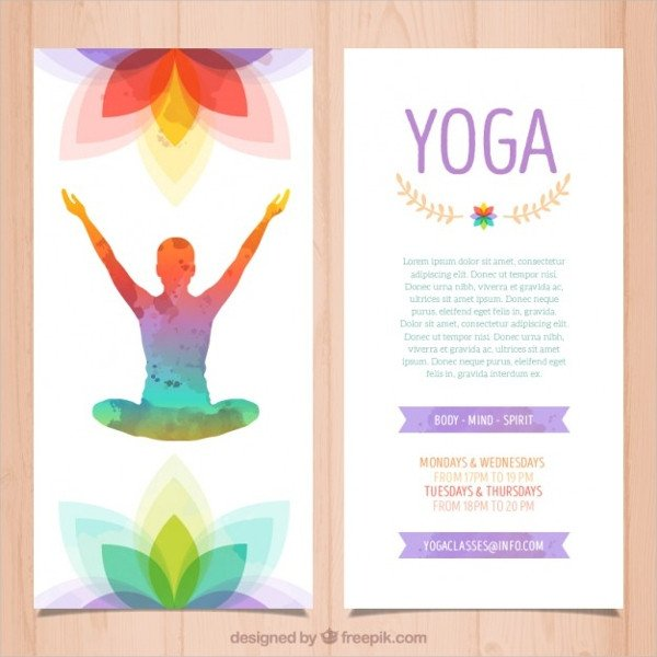 Yoga Flyers Free Template 20 Yoga Brochures Psd Ai Eps