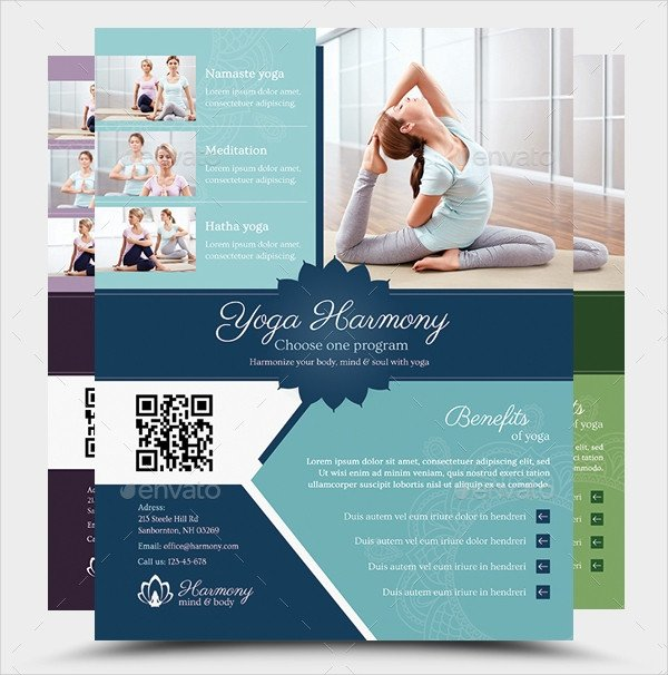 Yoga Flyers Free Template 27 Yoga Flyer Designs & Templates Psd Ai Vector Eps