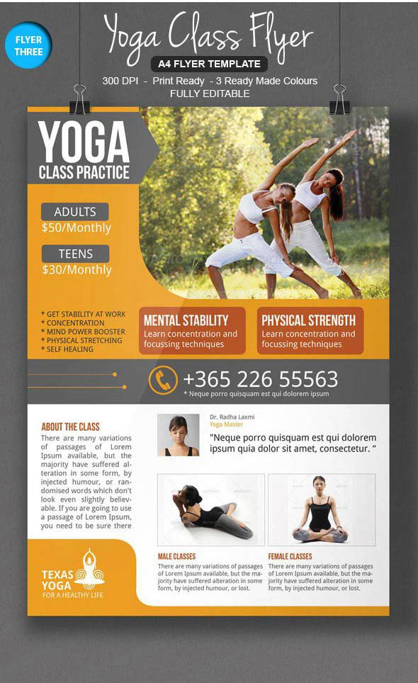 Yoga Flyers Free Template 3 Awesome Yoga Flyer Template On Behance