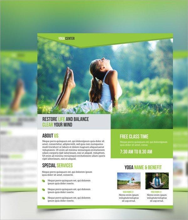 Yoga Flyers Free Template 30 Yoga Flyer Templates Vector Eps Psd Word formats