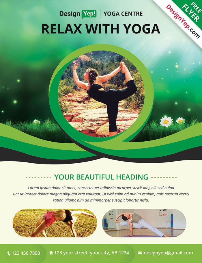 Yoga Flyers Free Template 32 Free Business Flyer Templates Psd for Download Designyep