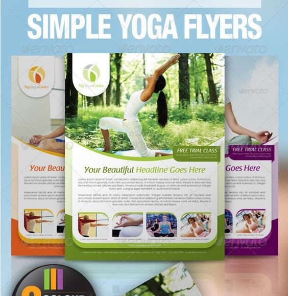 Yoga Flyers Free Template Newsletter Templates Yoga and Flyers On Pinterest