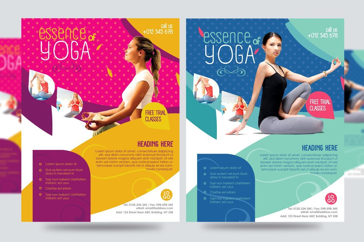 Yoga Flyers Free Template Yoga Flyer Fitness Flyer V1 Flyer Templates Creative