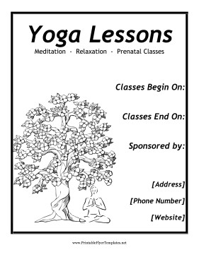 Yoga Flyers Free Template Yoga Flyer