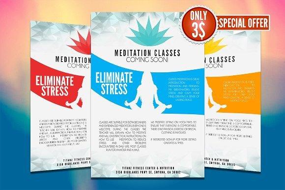Yoga Flyers Free Template Yoga Flyer Template Flyer Templates Creative Market