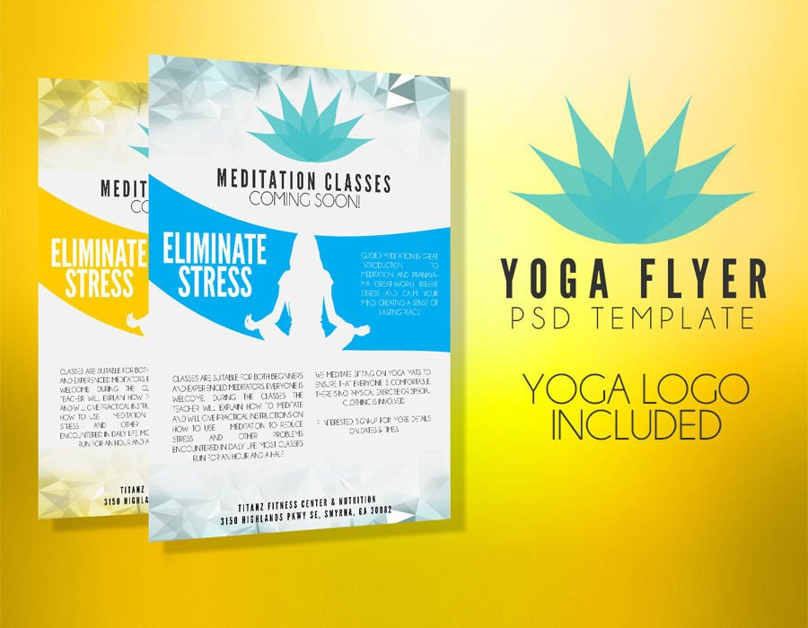 Yoga Flyers Free Template Yoga Flyer Template Psd Flyer Templates Graphicfy