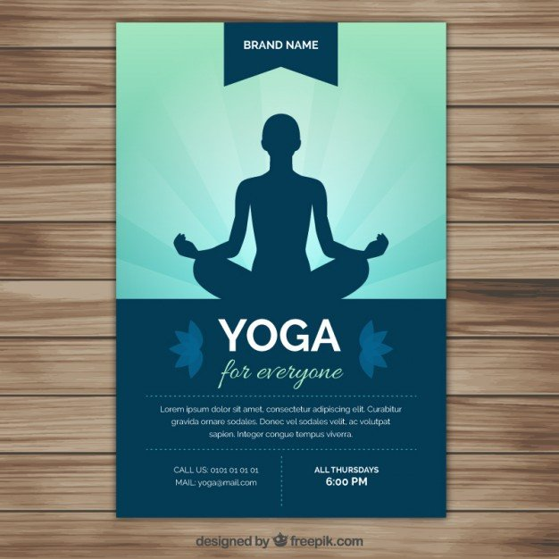 Yoga Flyers Free Template Yoga Vectors S and Psd Files
