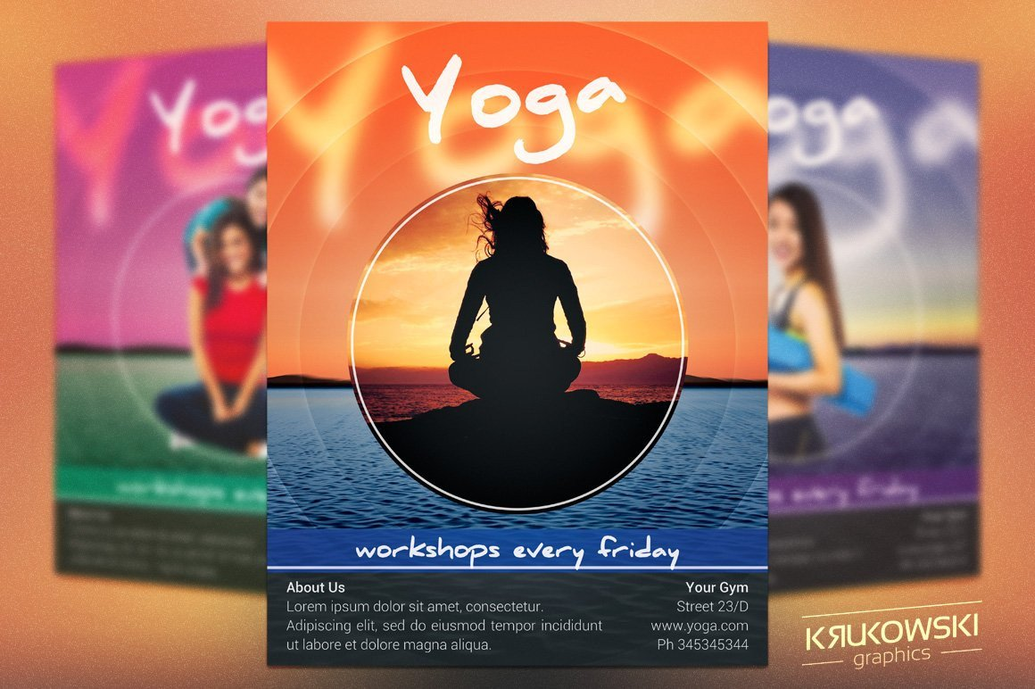 Yoga Flyers Free Template Yoga Workshops Flyer Template Flyer Templates Creative