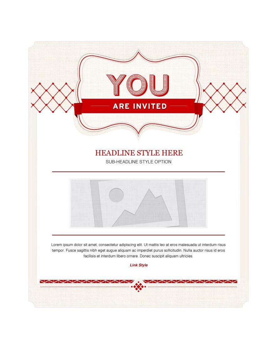 You are Invited Template Invitation Email Marketing Templates Invitation Email