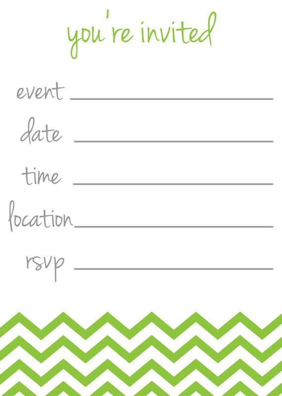 """You are Invited Template Items Similar to Chevron Stripe """"you Re Invited"""