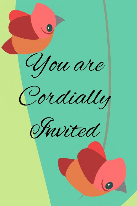 You are Invited Template You are Cordially Invited Template