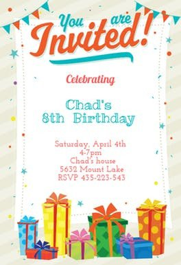 You are Invited Template You are Invited Free Birthday Invitation Template