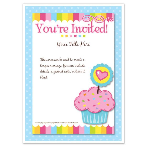 You are Invited Template You Re Invited Cupcake Invitations & Cards On Pingg
