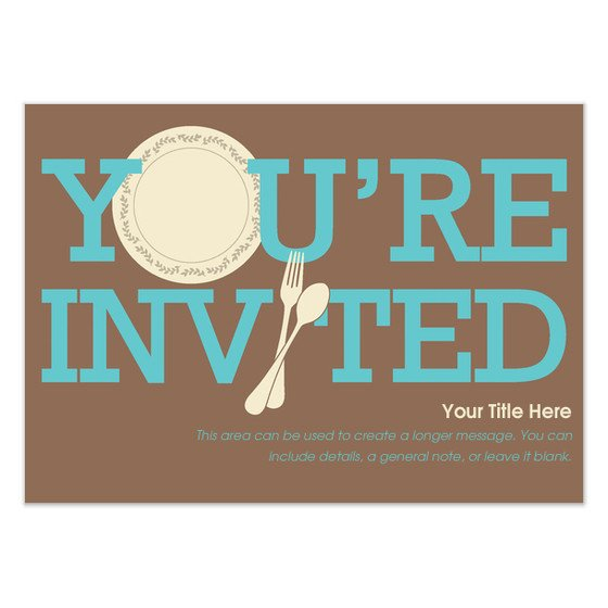 You are Invited Template You Re Invited Dinnerware Invitations & Cards On Pingg