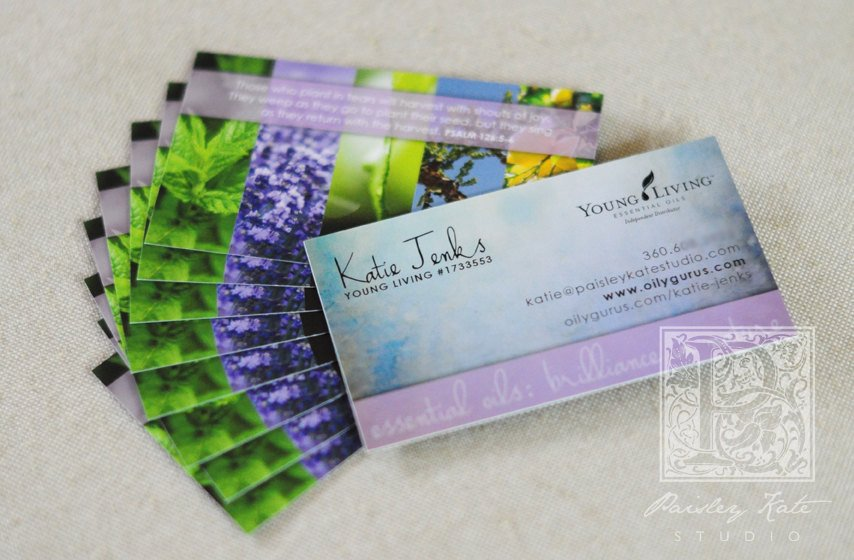 Young Living Business Card Template 250 Young Living Distributor Business Cards by