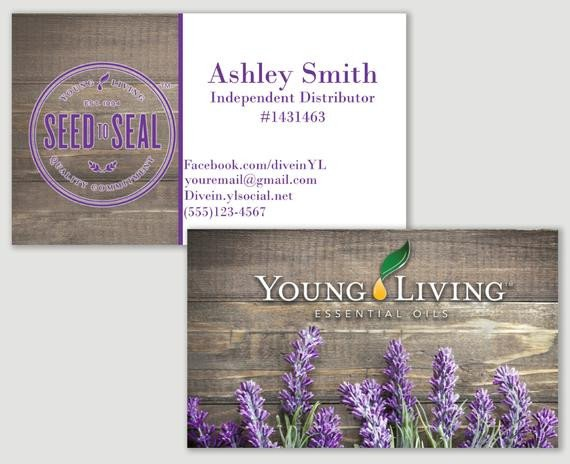 Young Living Business Card Template Items Similar to Lavender Young Living Business Card