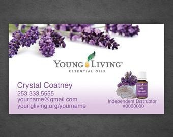 Young Living Business Card Template Young Living Business Cards Full Color by Crystalcoatney