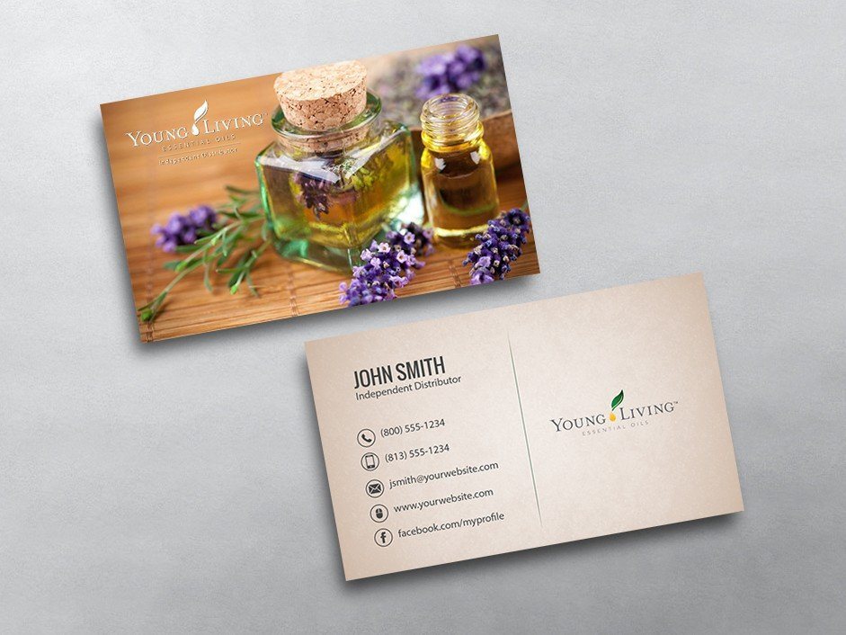 Young Living Business Card Template Young Living Business Cards