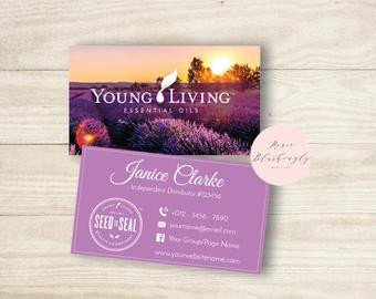 Young Living Business Card Template Young Living Cards