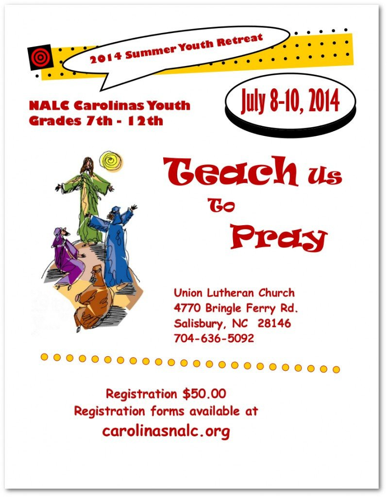 Youth Retreat Flyers Carolinas Mission District