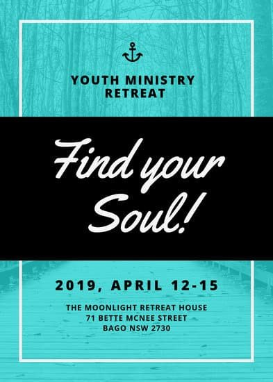 Youth Retreat Flyers Church Retreat Flyer Templates by Canva