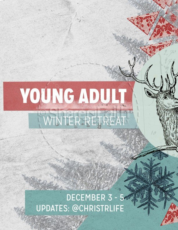 Youth Retreat Flyers Winter Retreat Christian Flyer Template