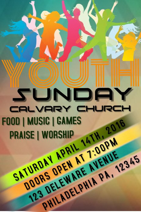 Youth Retreat Flyers Youth Church Template