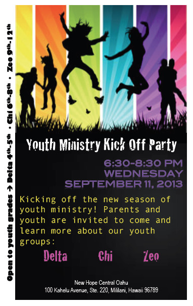 Youth Retreat Flyers Youth Ministry Kick F Party September 11 2013