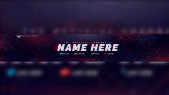 Youtube Banner Template Photoshop 47 Banner Templates Psd