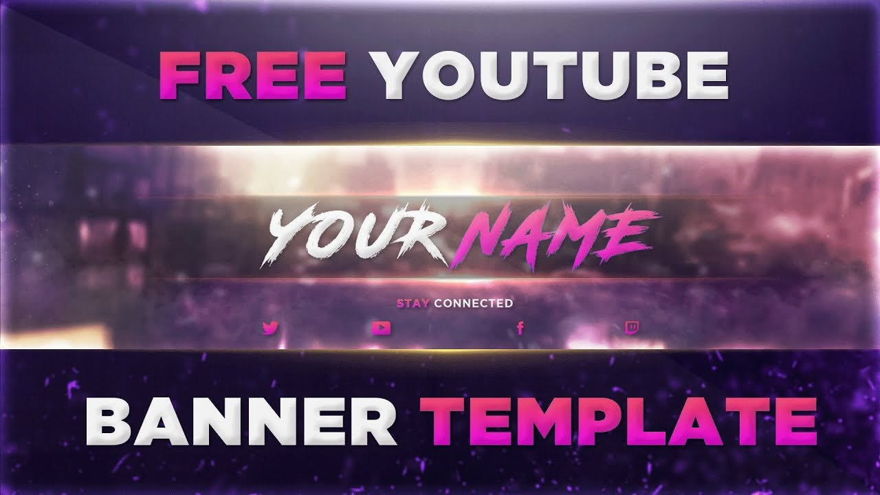 Youtube Banner Template Photoshop Best Banner Template Psd Shop