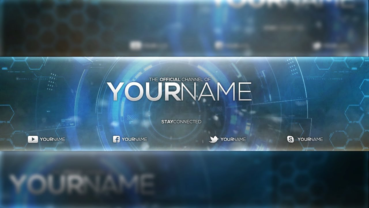 Youtube Banner Template Photoshop Free Banner Template Psd Shop Cc & Cs6