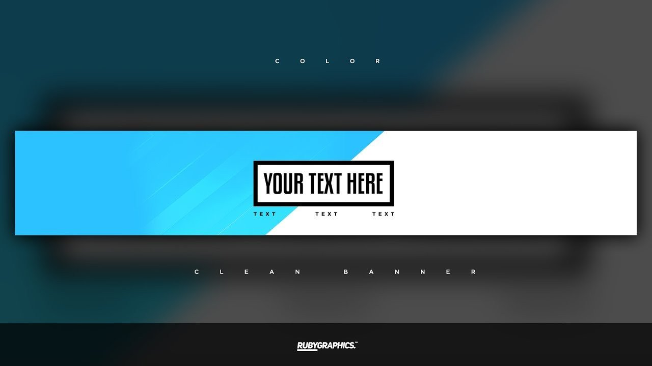 Youtube Banner Template Photoshop Free Gfx Free Shop Banner Template Clean 2d Custom