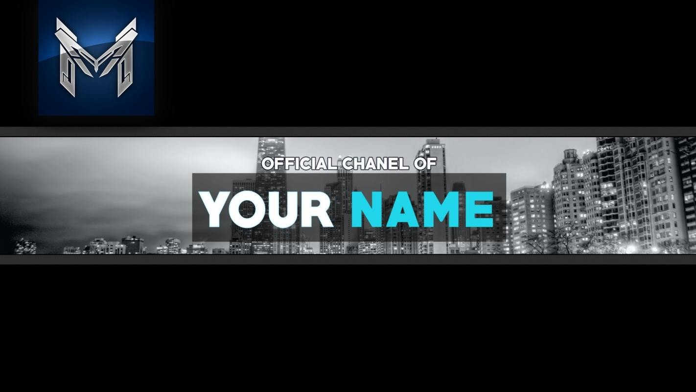 Youtube Banner Template Photoshop Free Youtube Banner
