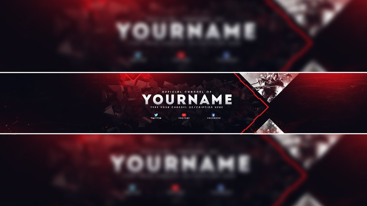 Youtube Banner Template Photoshop Header Template Gaming Banner Template