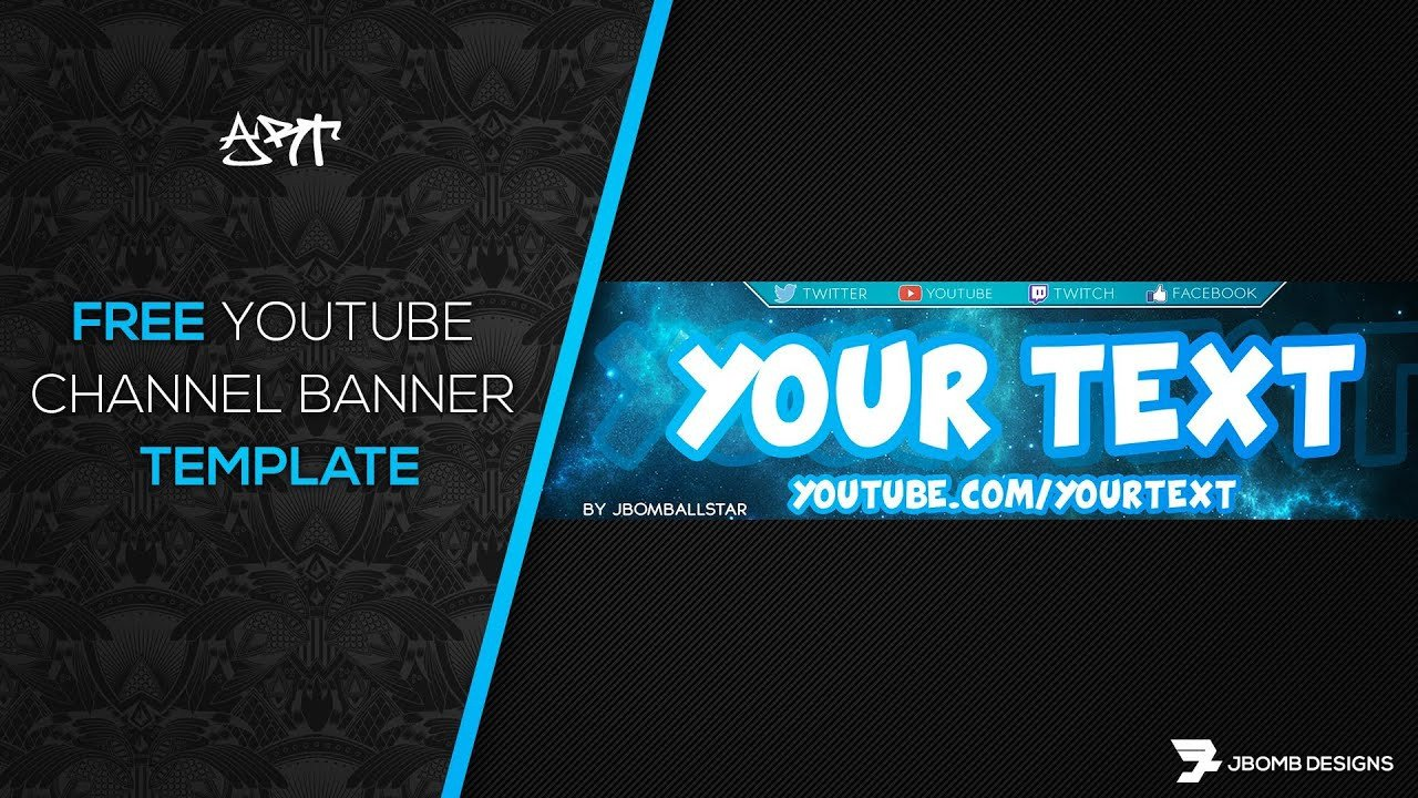 Youtube Banner Template Photoshop [ Shop] Free Hd Youtube Channel Banner Template