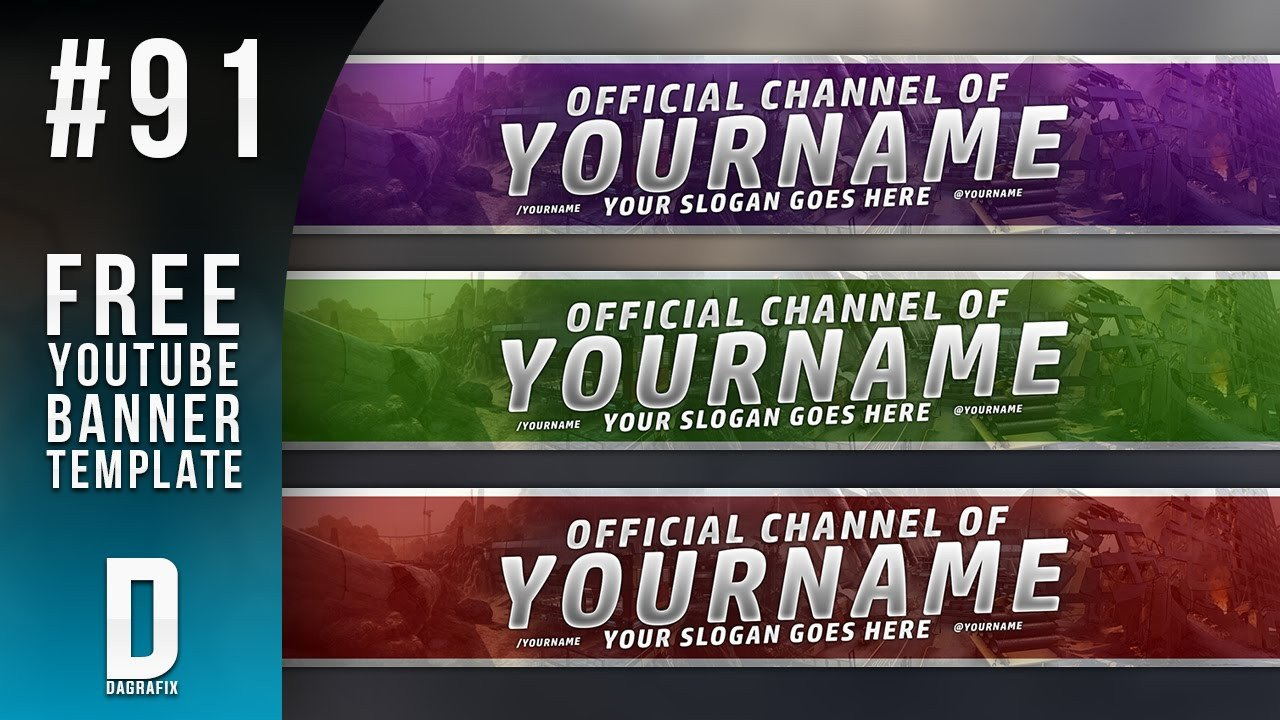Youtube Banner Template Photoshop Simple Banner Template 91 Free Shop