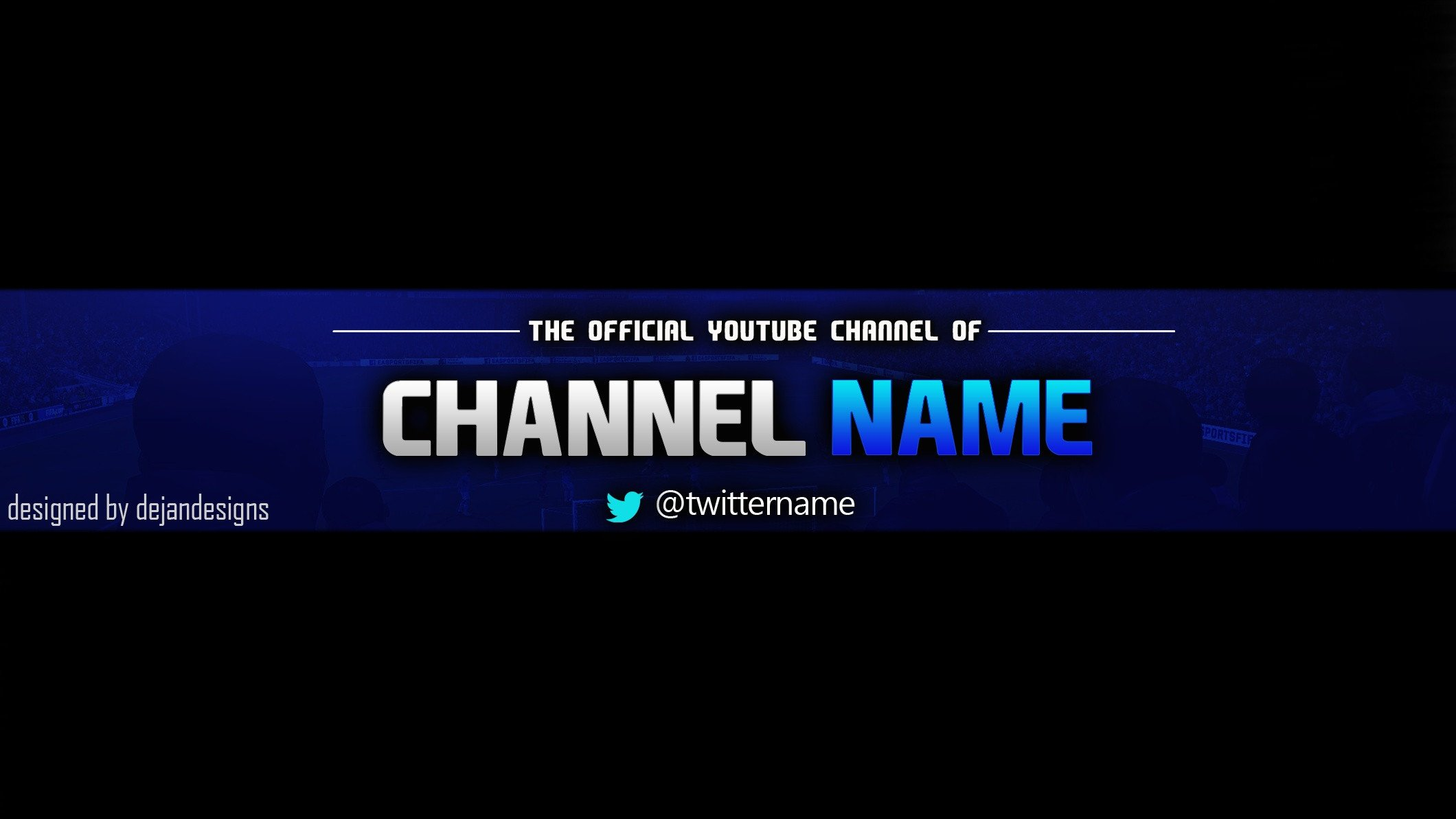Youtube Banner Template Photoshop Youtube Banner Template Psd