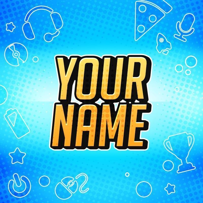 "Youtube Icon Template 800x800 Avatar Template ""gamer"" – Woodpunch S Graphics Shop"