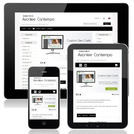 Zen Cart Templates Free Free Zen Cart Templates themes & Modules by Picaflor Azul