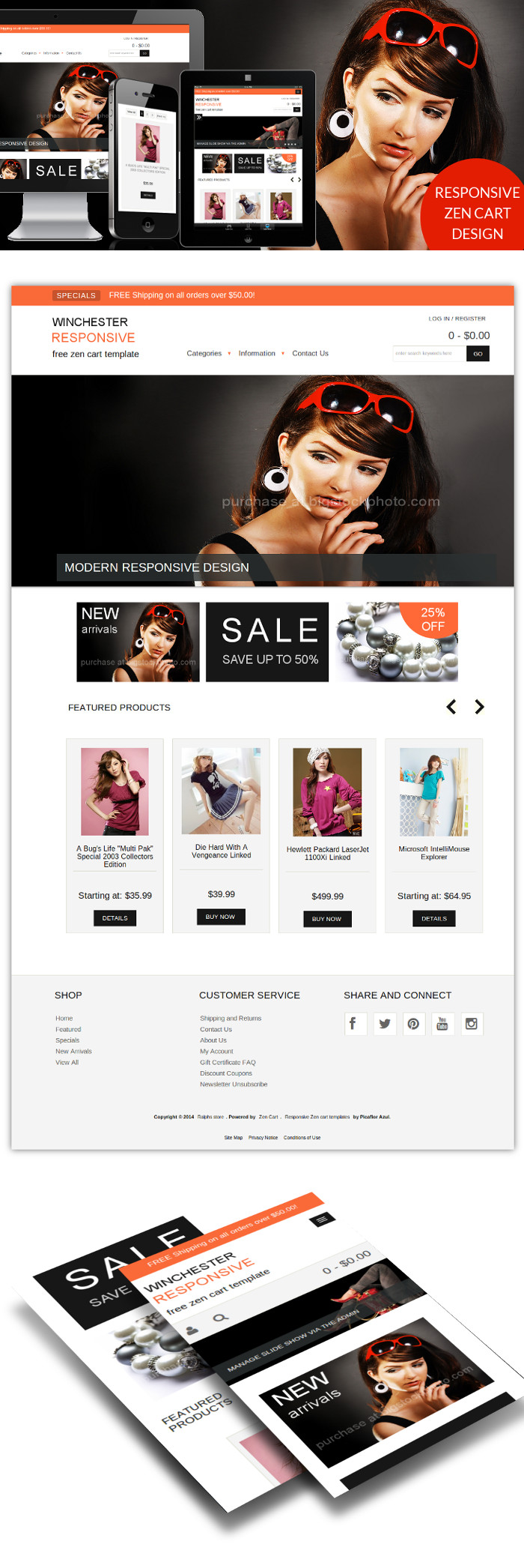 Zen Cart Templates Free Mobile Friendly Zen Cart Template Winchester Responsive