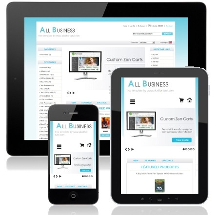 Zen Cart Templates Free Responsive Mobile Friendly Zen Cart Template All Business
